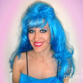 Sofia Goldberg. Sky-blue hair