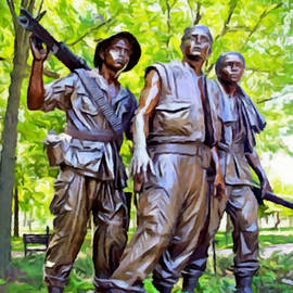 Bob Johnston - Soldiers Statue at The Vietnam Wall
