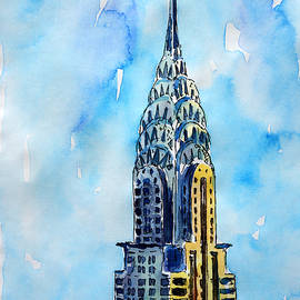 M Bleichner - Solitary View of Chrysler Building New York City