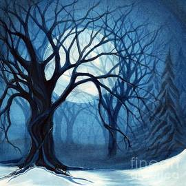 Janine Riley - Something In the air tonight - Winter Moonlight Forest