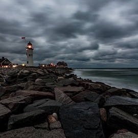 Brian MacLean - Stormy Clouds over Old Scituate Lighthouse in the Early Morning