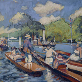 Spectators on the Thames in Henley