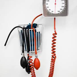 Sphygmomanometer Blood Pressure Gauge in a Doctor