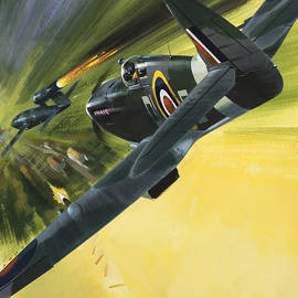 Spitfire and Doodle Bug - Wilf Hardy