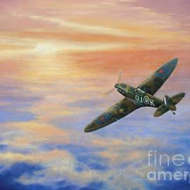 Elaine Jones - Spitfire at Sunset