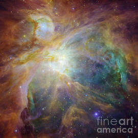 R Muirhead Art - Spitzer and Hubble Create Colorful Masterpiece