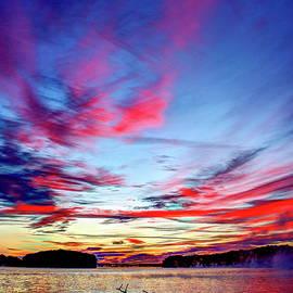 Reid Callaway - Splash Of Color Sugar Creek Sunrise Lake Oconee Georgia