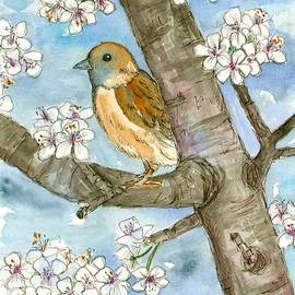 Cathie Richardson - Spring Blossoms Sparrow