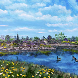 Spring Daisies at Los Gatos Lake - Laura Iverson