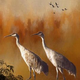 Janice Rae Pariza - Spring Light Cranes
