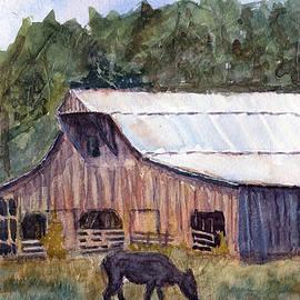 Barry Jones - Spring On The Farm - Rural Watercolor Landscape