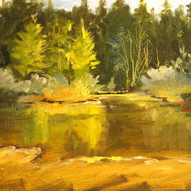 Nancy Merkle - Spring Pond Landscape
