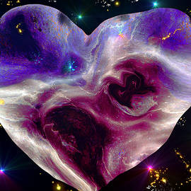 Abstract Angel Artist Stephen K - SS-77 Galactic Heart