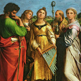 St Cecilia surrounded by St Paul, St John the Evangelist, St Augustine and Mary Magdalene - Raphael
