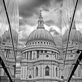 Gill Billington - St Pauls Cathedral Reflections - Black and White