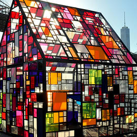 Diane Lent - Stained Glass House and Brooklyn Bridge