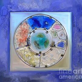 Aline Halle-Gilbert - Stained Glass Photography painting