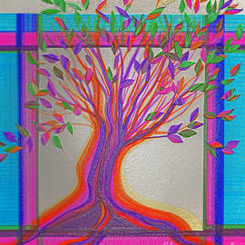 First Star Art - Stained Glass Tree by jrr