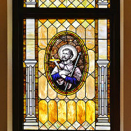 Christine Till - Stained Glass Window Father Antonio Ubach