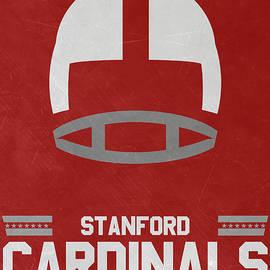 STANFORD CARDINALS VINTAGE FOOTBALL ART - Joe Hamilton