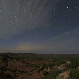 Karen Slagle - Star Trails Over Caprock Canyons