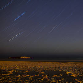 Toby McGuire - Star Trails over Good Harbor Beach Gloucester, MA