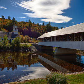 Jeff Folger - Stark covered bridge and church