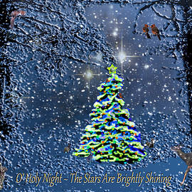 Michele Avanti - Starry Night Forest Christmas Card