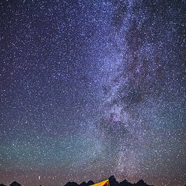 Vishwanath Bhat - Starry night over Mormon Row Barn GTNP