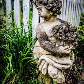 Kathleen K Parker - Statue by the Picket Fence-Myrtles Plantation