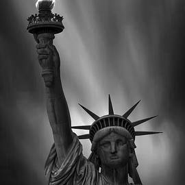 Statue of Liberty Monochrome - Martin Newman