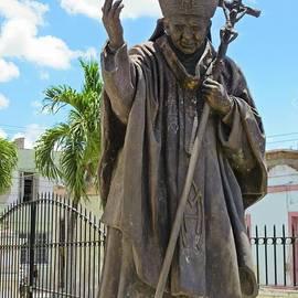 John Malone - Statue of the Pope in Cuba