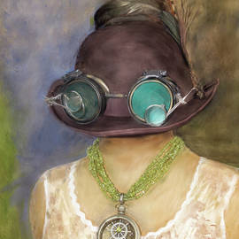 Betty Denise - Steampunk Beauty with Hat and Goggles