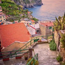 Joan Carroll - Steps to Riomaggiore Cinque Terre Italy