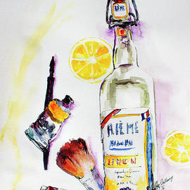 Ginette Callaway - Still life Bottle Brushes Paint Tubes Watercolor
