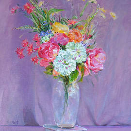 Natalya Shvetsky - Still Life Glass Vase w Flowers