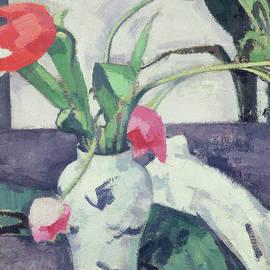 Still Life  Tulips in a Chinese Vase - Samuel John Peploe