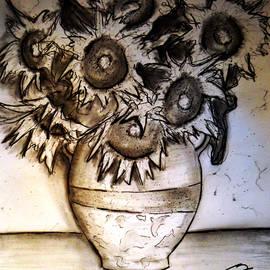 Jose A Gonzalez Jr - Still Life - Vase with Seven Sunflowers