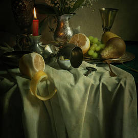 Jaroslaw Blaminsky - Still life with fruits and flowers