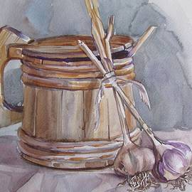 Anna Shurakova - Still life with garlic