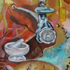Irina Stroup - Still life with meat grinder