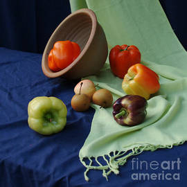 Georgia Sheron - Still Life With Peppers And Apples