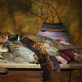 Jeff Burgess - Still Life With Pheasants And Corn