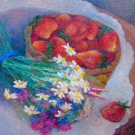 Anna Shurakova - Still life with strawberries