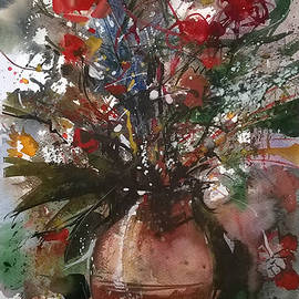 Lorand Sipos - Still life with summer flowers I.