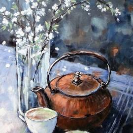 Cathy MONNIER - Spring Still Life With Tea Pot