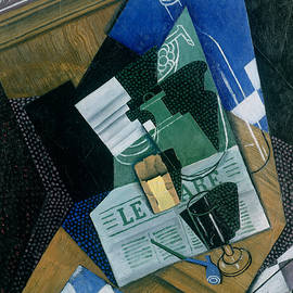 Still Life with Water Bottle, Bottle and Fruit Dish, 1915 - Juan Gris