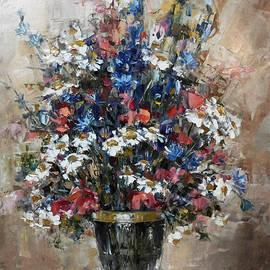 Ana Dawani - Still life with wildflowers