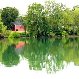 Kathy Barney - Still Water and Barn at Waterscape Park