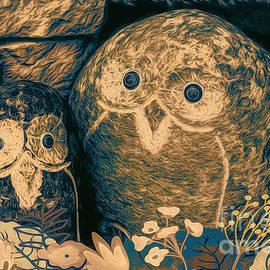 Jean OKeeffe Macro Abundance Art - Stone Owls